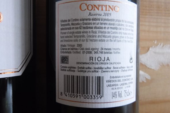 CVNE (Contino), Reserva, Rioja