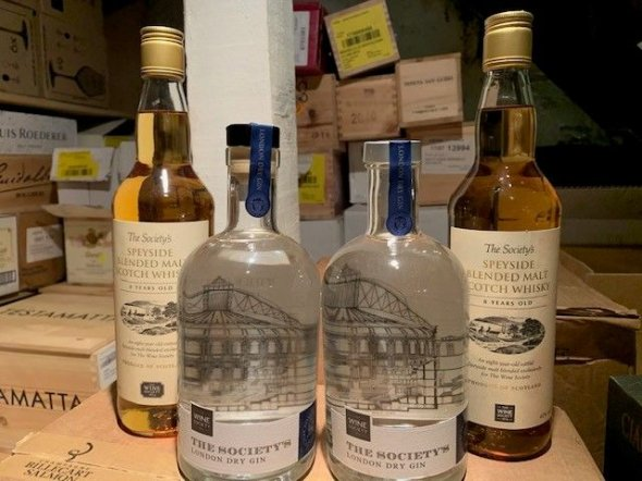 Wine Society London Gin and Speyside 8 Year Old Scottish Malt Whisky