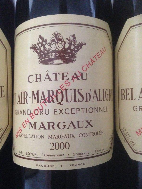 BEL AIR MARQUIS D'ALIGRE Margaux