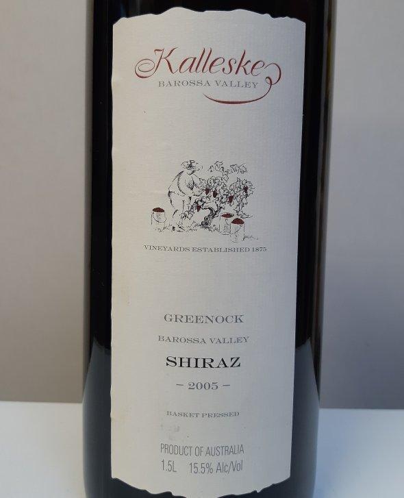 Kalleske, Greenock Shiraz 2005. Magnum, RP 94-96pts