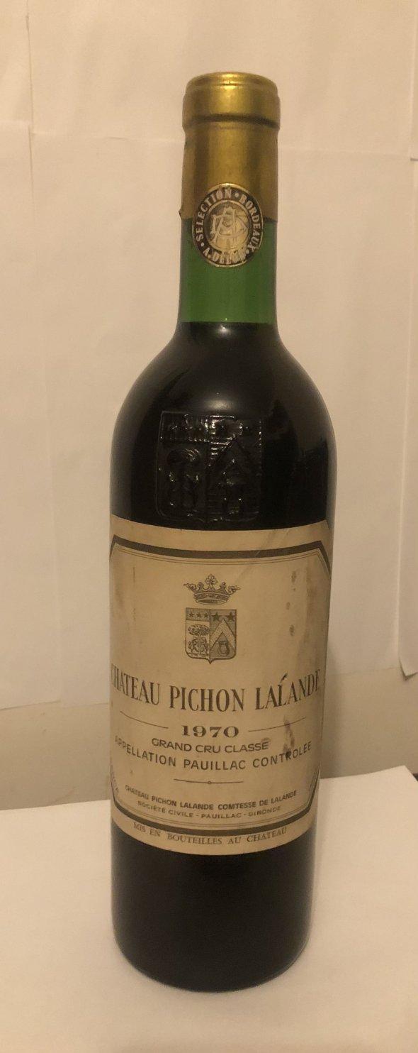 Chateau pichon lanande 1970 grand cru classe
