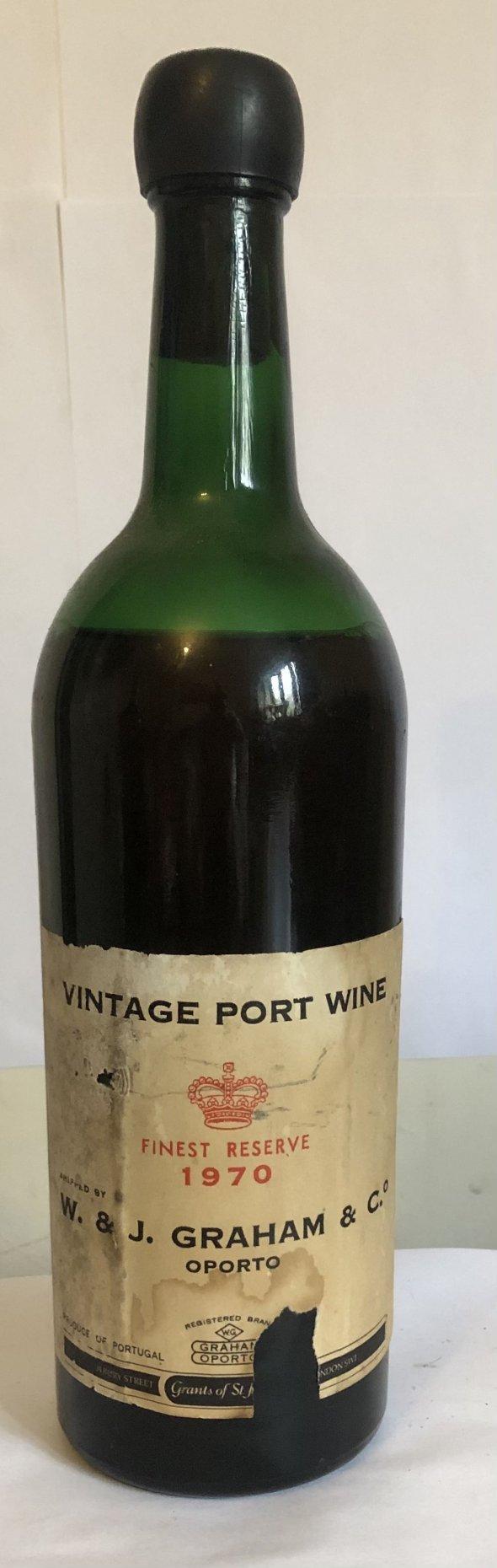 W&j Graham's vintage port 1970