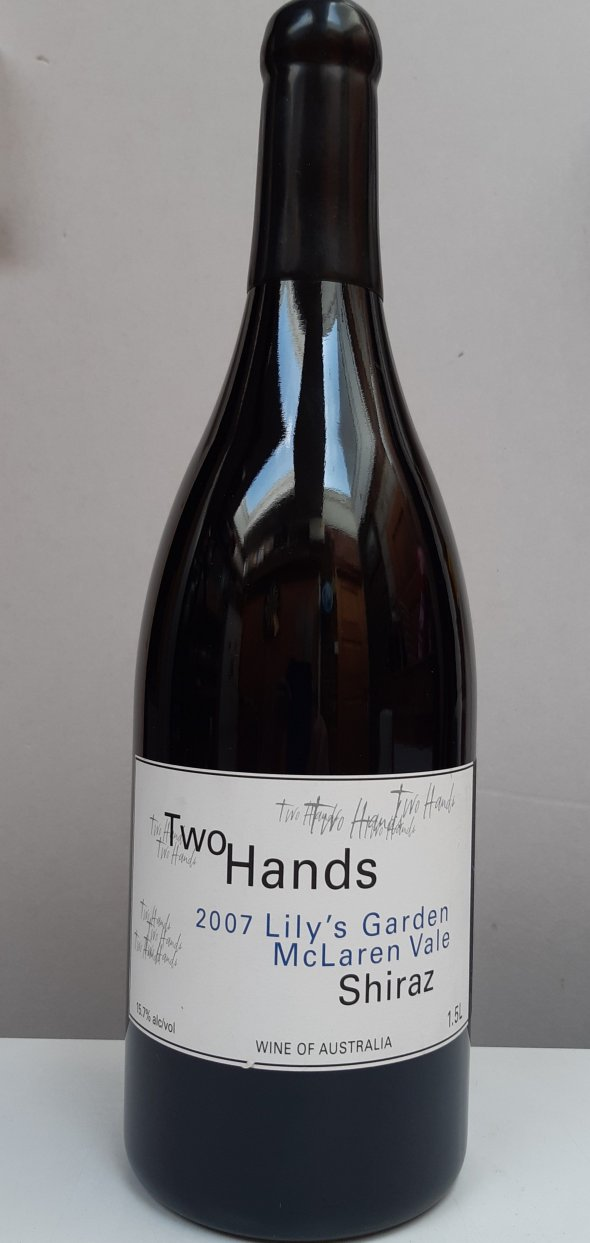 Two Hands, Lily's Garden Shiraz 2007, Magnum. RP 91-93pts.