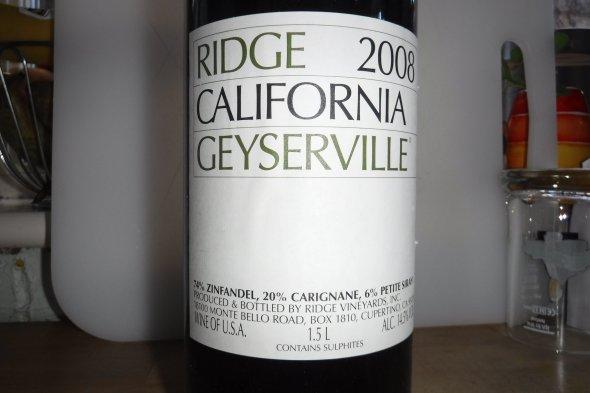 Ridge, Geyserville, Alexander Valley, Magnum