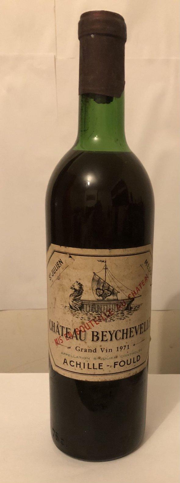 Chateau beychevelle grand vin 1971 mis en bouteille