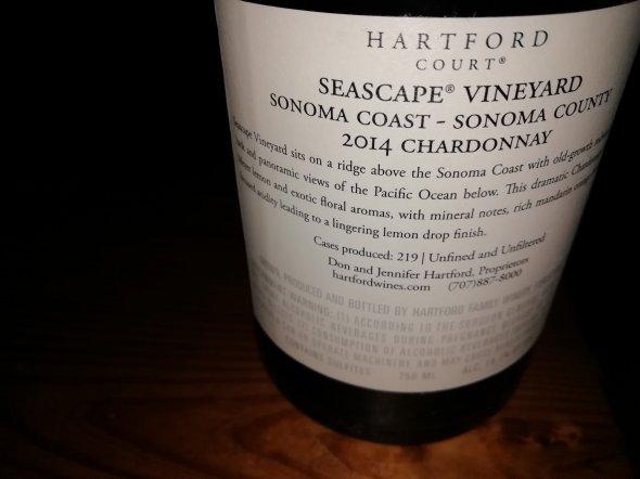Hartford court, Seascape Vineyard Chardonnay