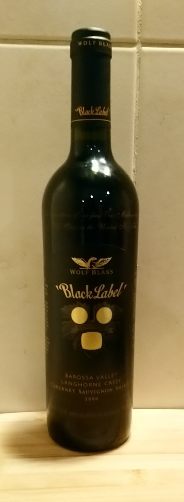 Wolf Blass, Black Label, South Australia celebration of first one million cases