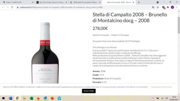 Stella di Campalto (Podere S.Giuseppe), Brunello di Montalcino DOCG