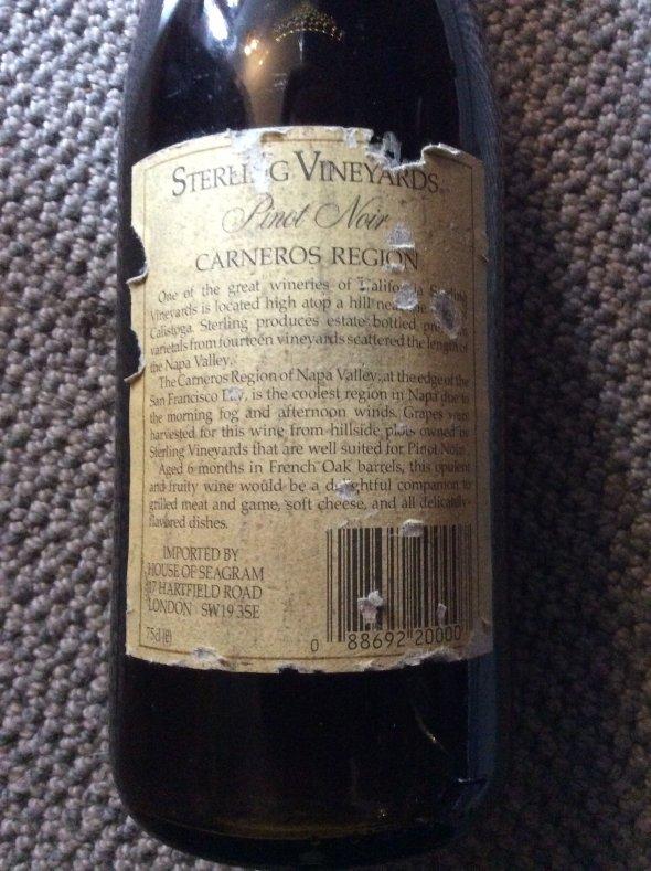 Sterling Vineyards, Pinot Noir, Los Carneros