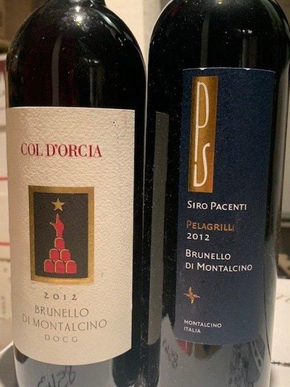 Brunello 2012 - Col D'Orcia and Siro Pacenti Pelagrilli