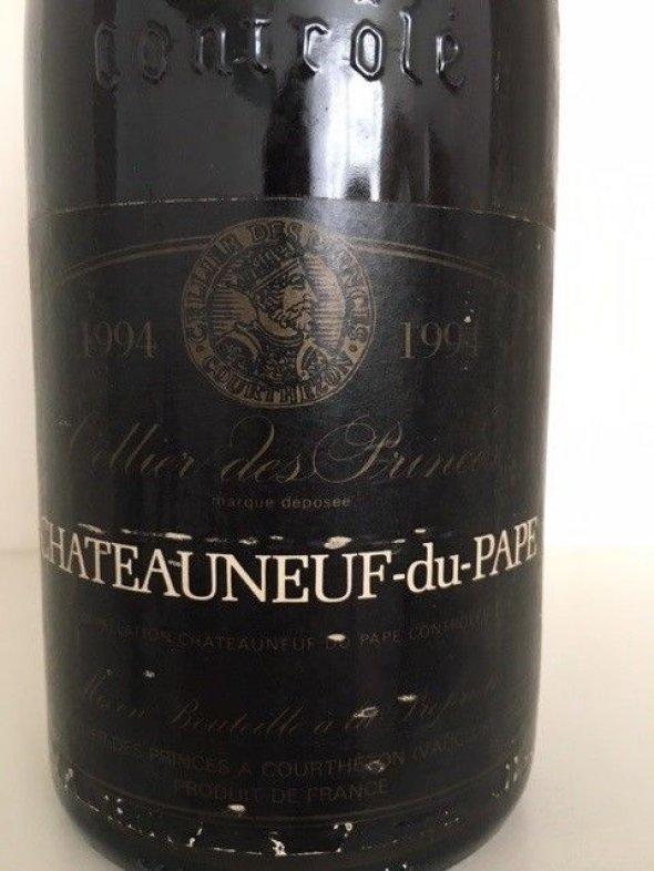 Mixed Dinner Party Lot: 1989 Blanc de Blancs Brut, A. Margaine & 1994 Chateauneuf-du-Pape, Cellier des Princes