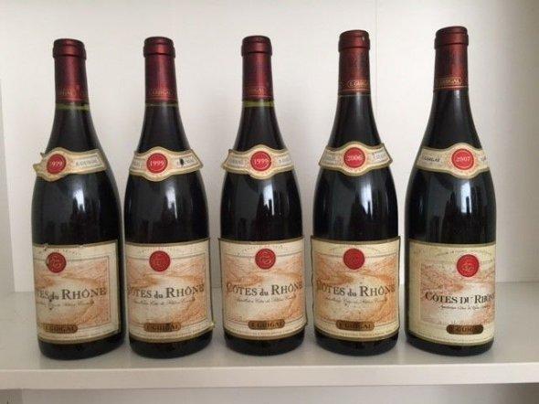 Mixed Vintage Lot: E. Guigal, Cotes du Rhone, Rouge 1999, 2006