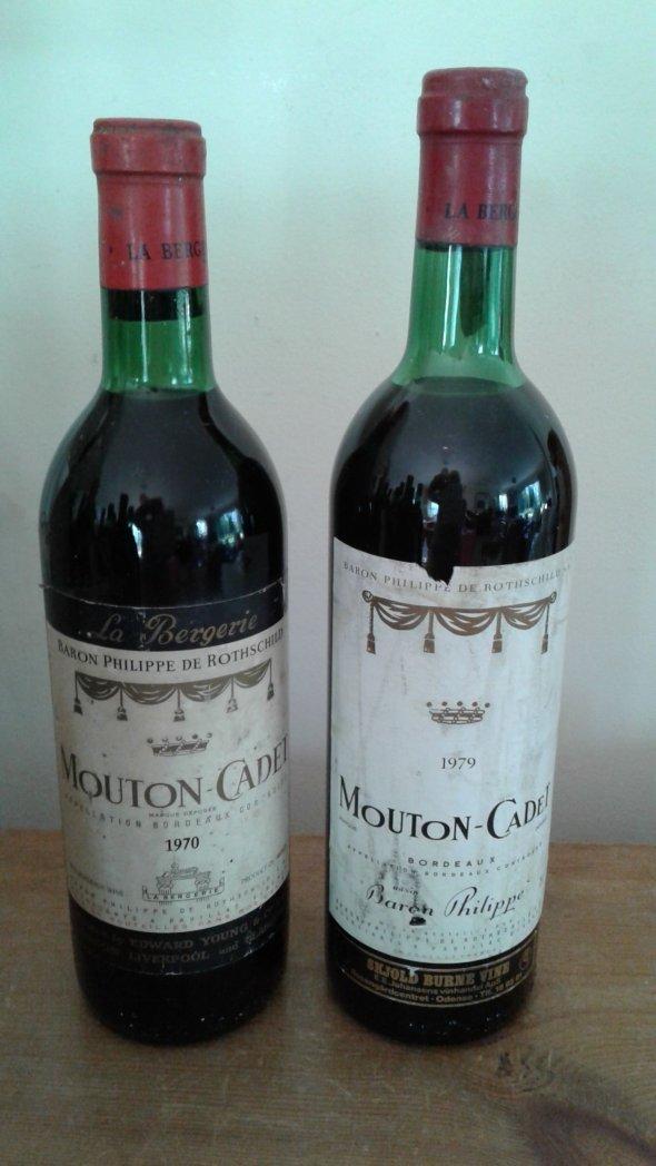 Mouton Cadet, Bordeaux 1970 & 1979