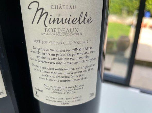 Chateau Minvielle, Bordeaux