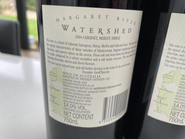 Watershed, Senses Cabernet Merlot, Margaret River