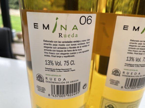 Bodega Emina Rueda Verdejo 2006