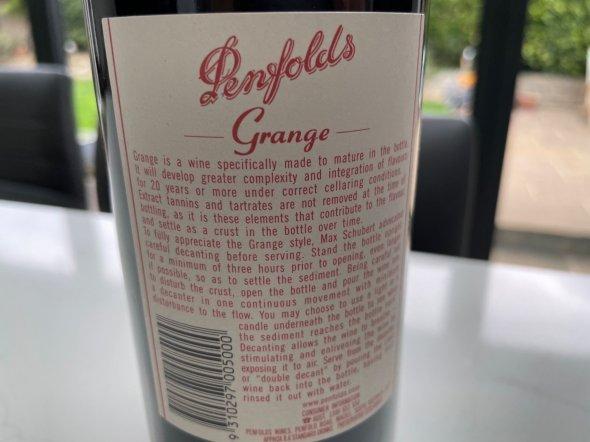 Penfolds, Grange Hermitage Bin 95, South Australia