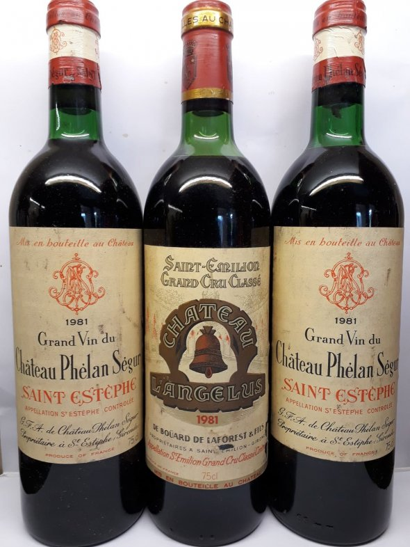 1981 Rare Bordeaux Collection Château Angelus, Château Phélan Ségur