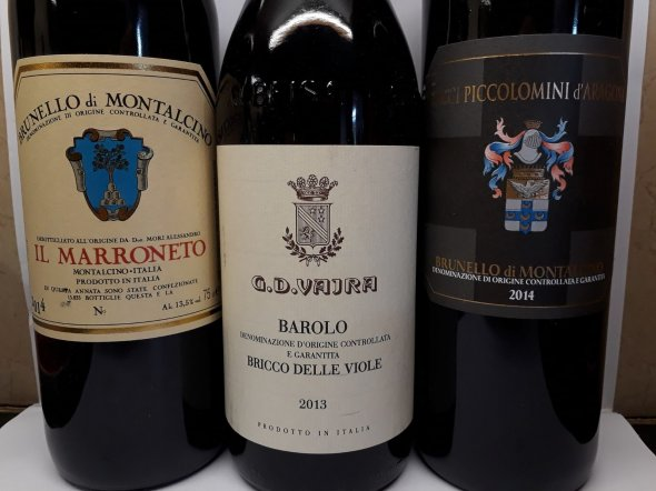 Mixed case Italy 3 special bottles
