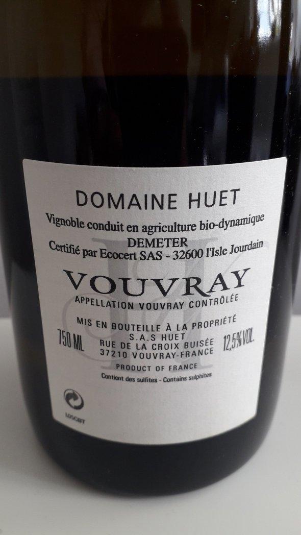Huet, Vouvray, 1ere Trie Clos Bourg Moelleux
