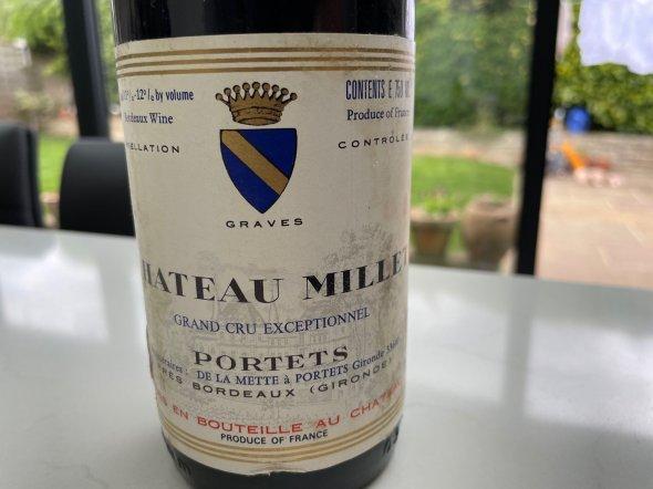 Chateau Millet Bordeaux Grand Cru Exceptionnel