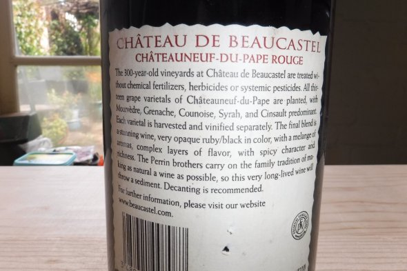 Chateau de Beaucastel Rouge, Chateauneuf-du-Pape