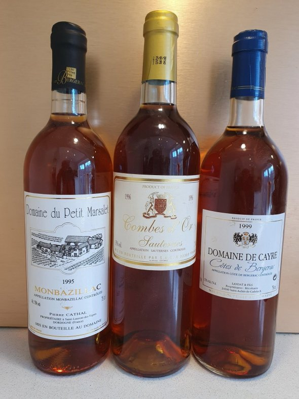 A trio from France's best sticky regions