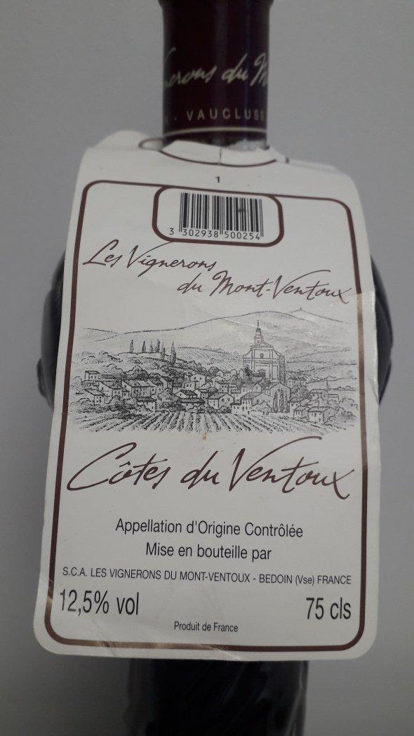 Vignerons  du Mont Ventoux, Speciale Coupe du Monde 1998