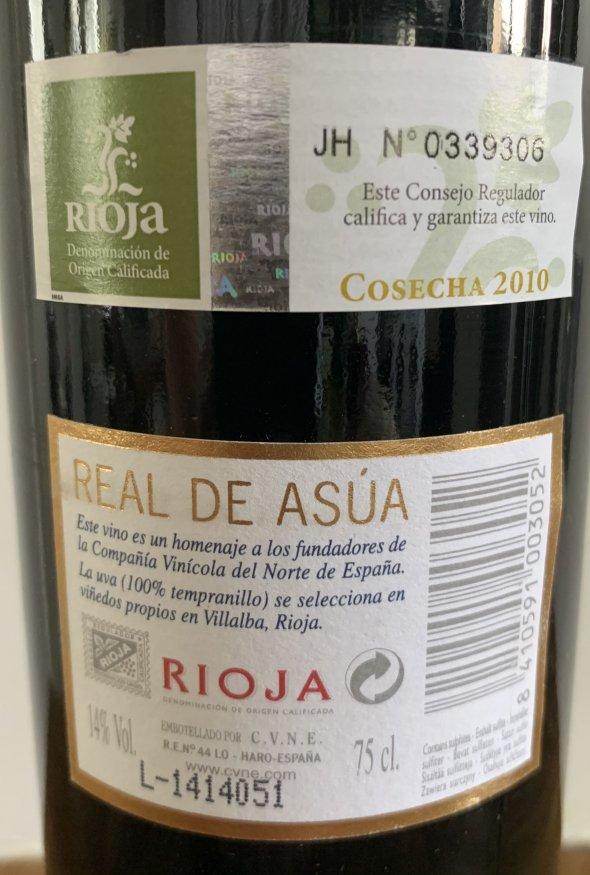 CVNE, Reserva Real Asua, Rioja