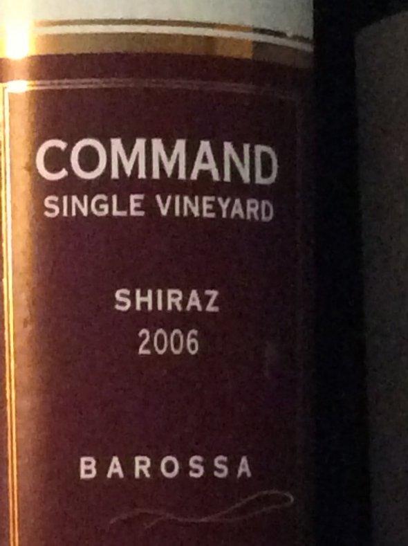 Elderton, Command Single Vineyard Shiraz, Barossa