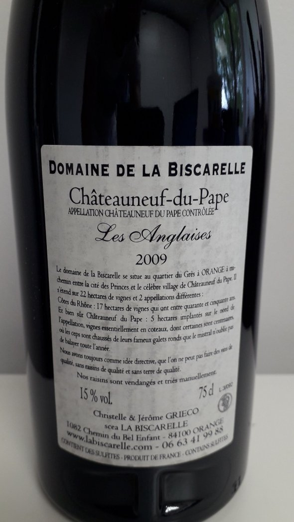 Biscarelle, Chateauneuf-du-Pape, Anglaises