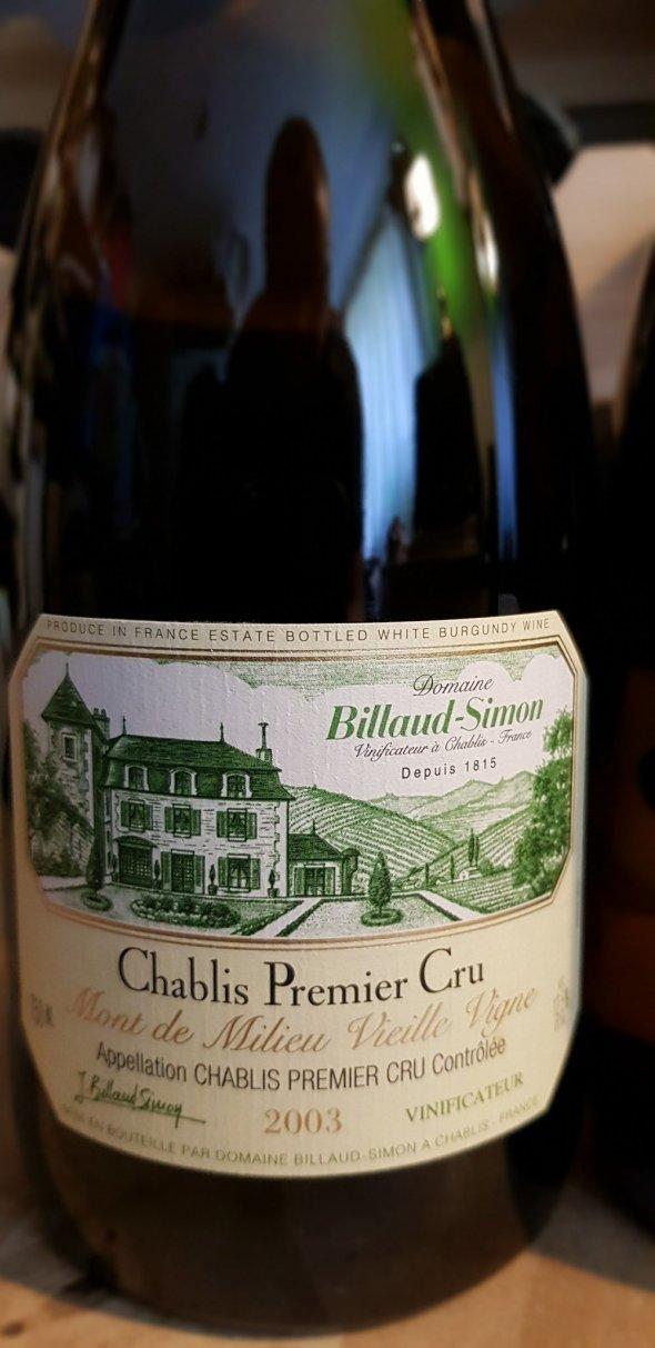 Domaine Billiaud-Simon Chablis 1er Cru Mont de Milieu Vieille Vignes