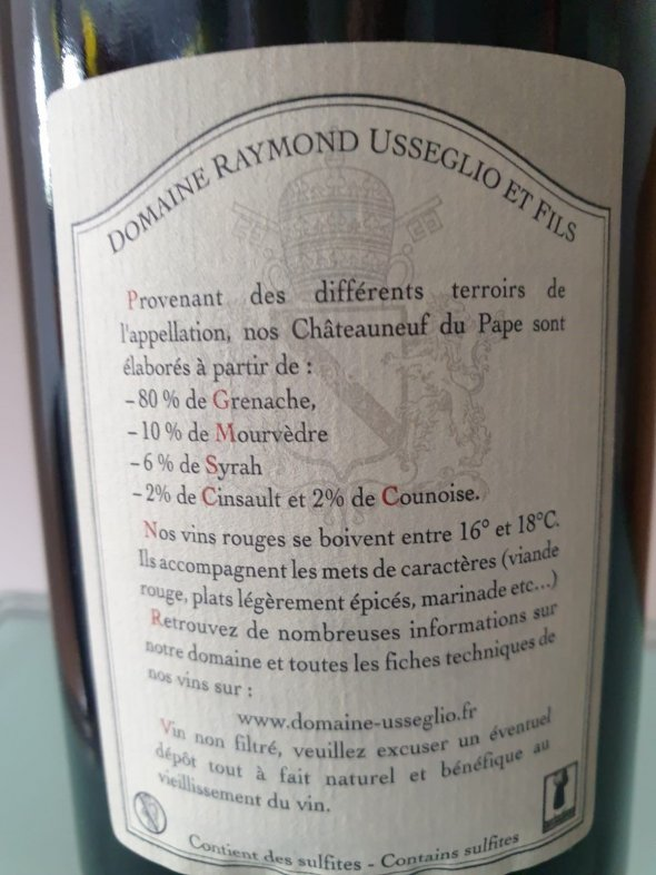 Domaine Raymond Usseglio, Chateauneuf-du-Pape