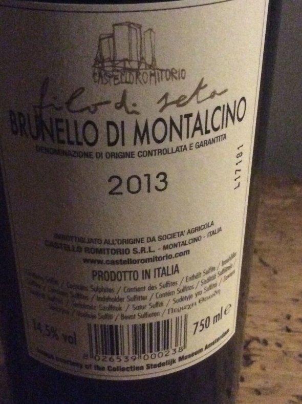 Castello Romitorio, Brunello di Montalcino, Filo di Seta