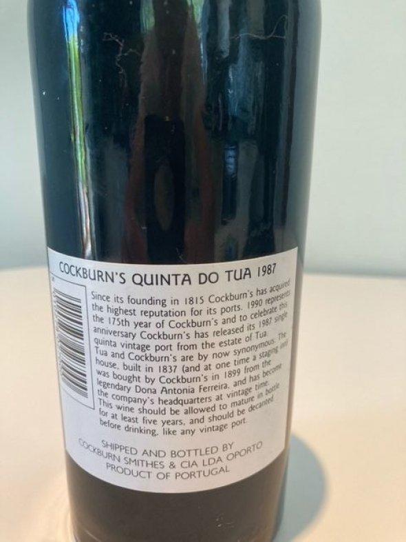 Cockburn's Quinta Do Tua Vintage Port