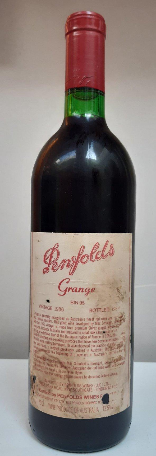 1 x Penfolds Grange Bin 95 1986 (98pts RP)