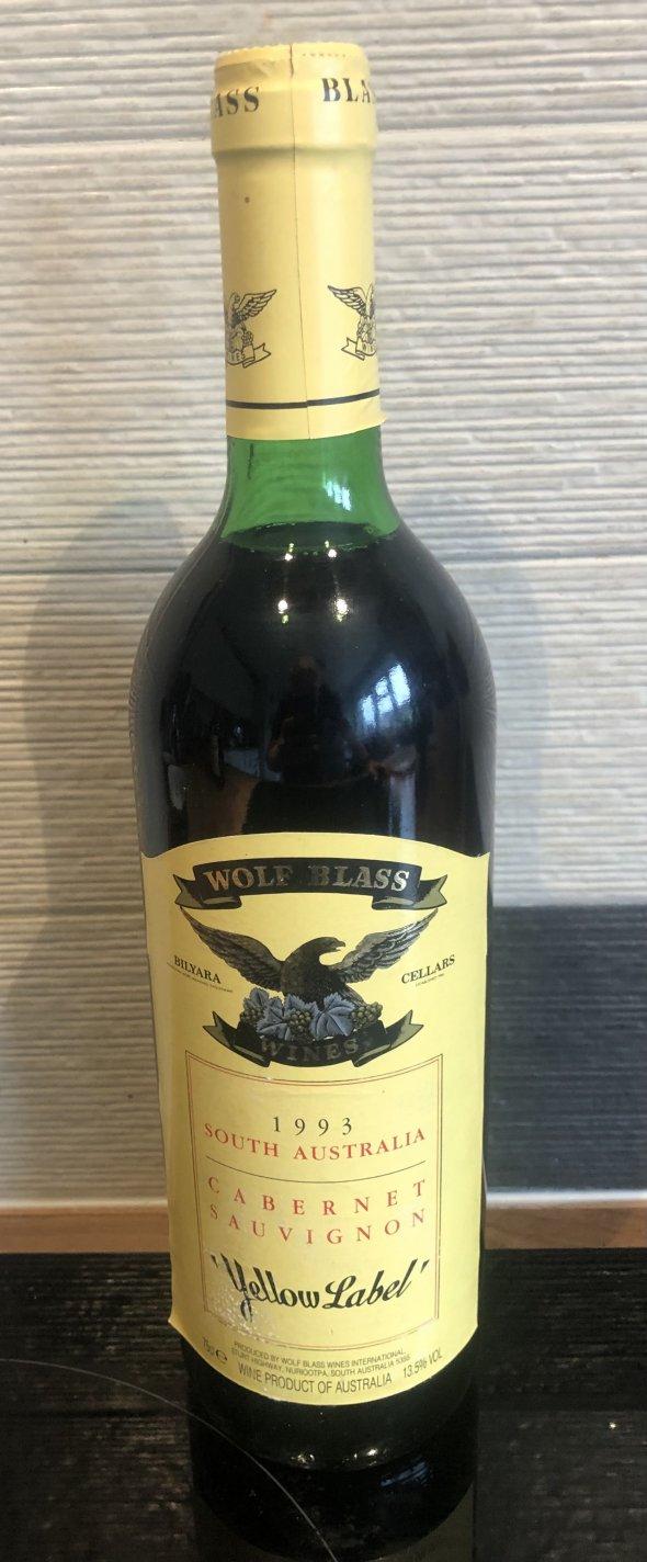 Cabernet Sauvignon wolf blass Yellow Label