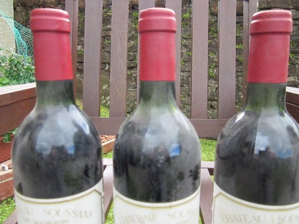 Three Bottles Chateau Soussans, Margaux Cru Bourgeois 1985
