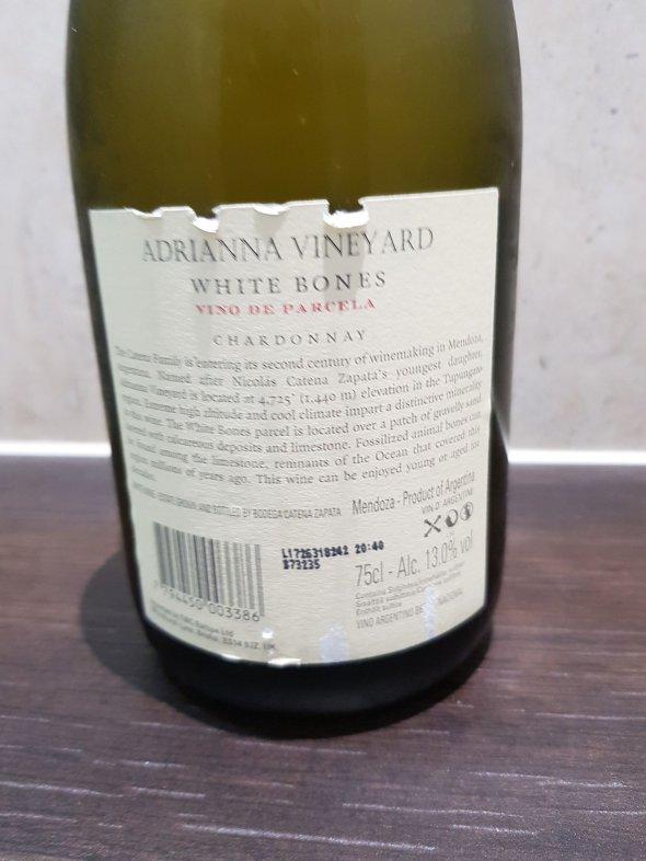Catena Zapata, Adrianna Vineyard White Bones Chardonnay, Mendoza