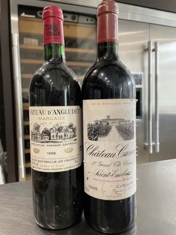 french duo -chateau dangludet and chateau canon 1996