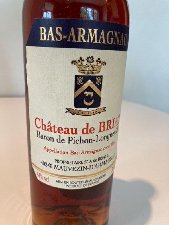 Chateau Briat (Baron de Pichon-Longueville), Vintage, Bas Armagnac