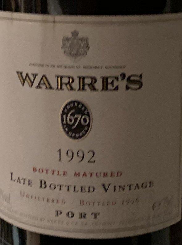 WARRE's late bottled vintage port