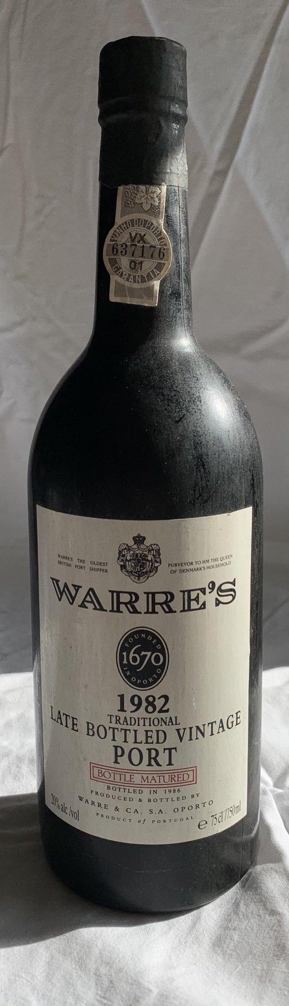 Warres 1982 traditional late bottled vintage port