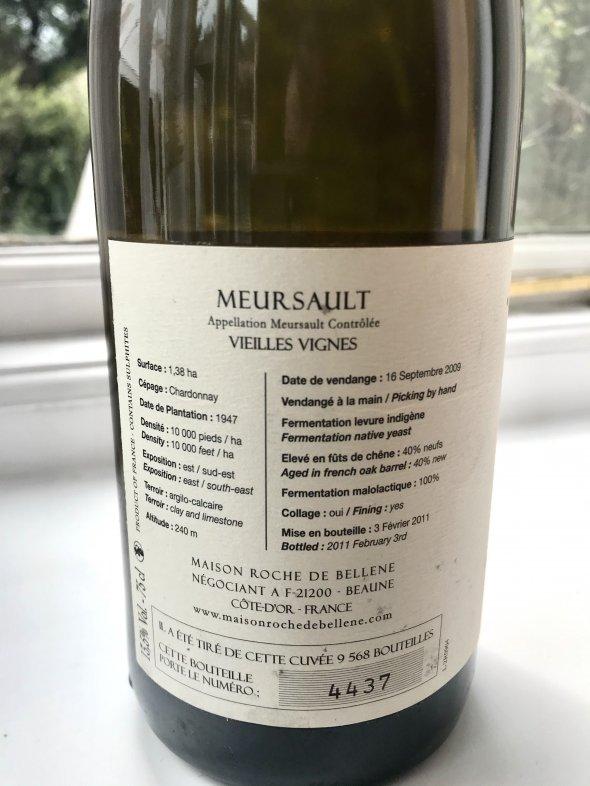 Maison Roche de Bellene, Meursault, Vieilles Vignes