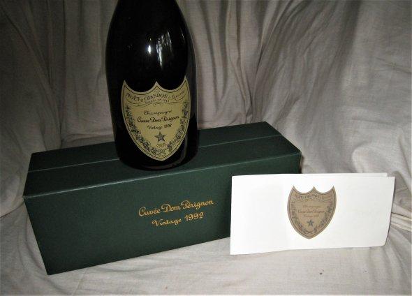 1992 Dom Perignon.  Boxed with Booklet.  Rare.