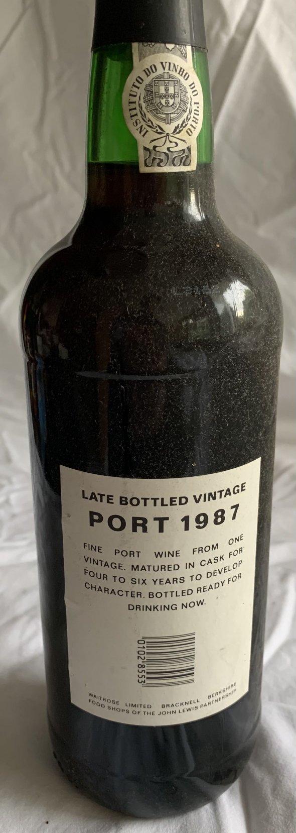 Waitrose late bottled vintage port