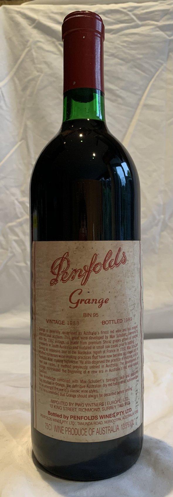 Penfolds grange 1988