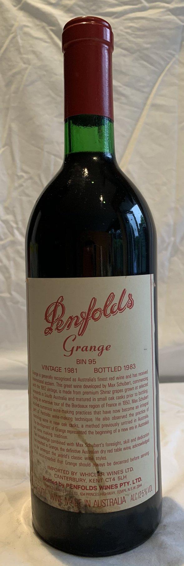 Penfolds grange vintage 1981