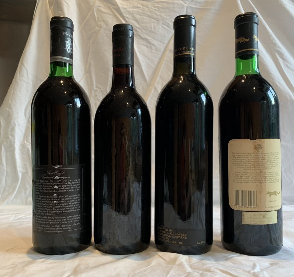 collection of Vintage Australian fine wine x4