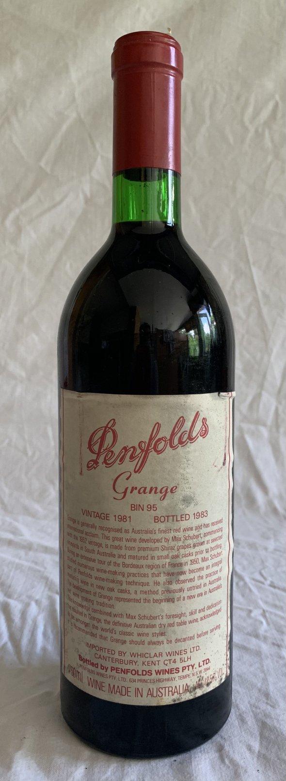 Penfolds, Grange Bin 95, South Australia